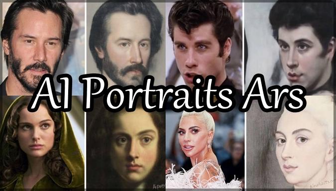 AI技術により海外の有名人をクラシカルな肖像画に変換した写真集