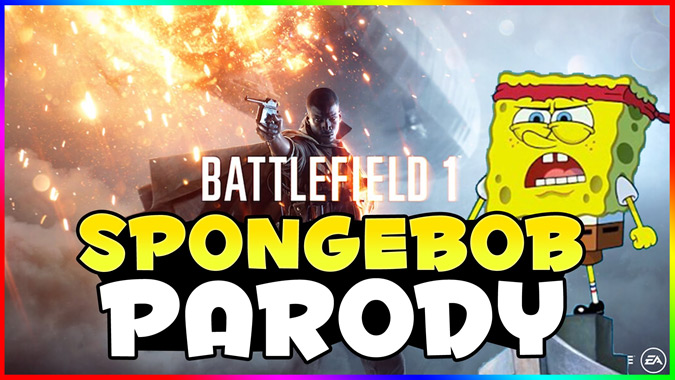 スポンジボブを使った「Battlefield 1」のパロディトレーラー!
