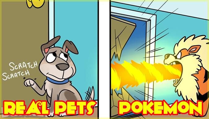 もしもポケモンをペットとして飼えたら?現実のペットとポケモンの比較集