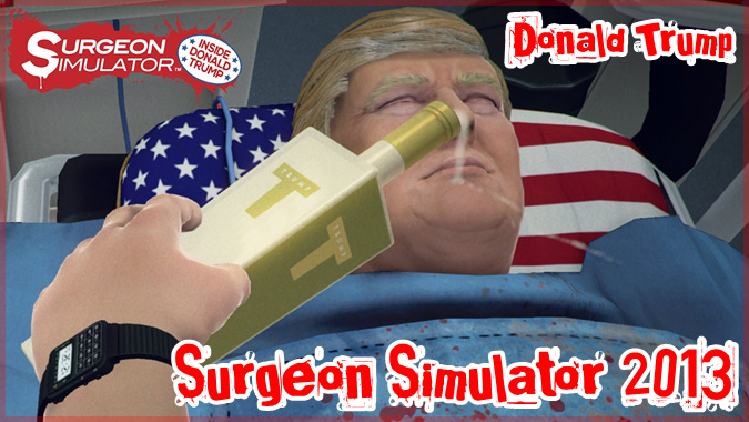 超クレイジーな外科手術ゲームにドナルド・トランプが患者として登場!?
