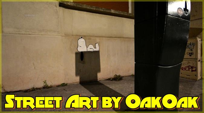 OakOak氏による遊び心満載のストリートアート作品集!