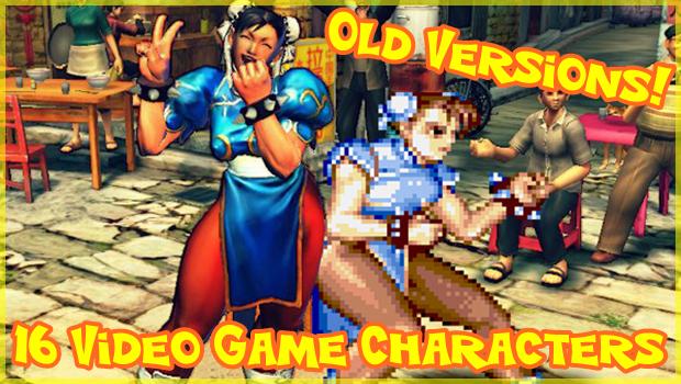 現代のゲームキャラと懐かしのキャラを比較した画像集