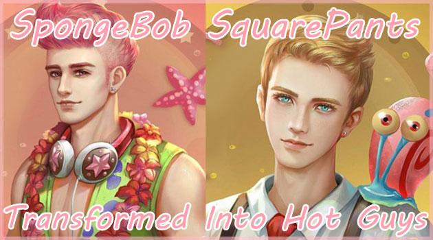 スポンジ・ボブのキャラクターをイケメン擬人化したイラスト集