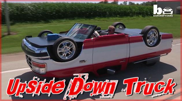 メカニックがフォード社の車で制作した逆さま自動車!