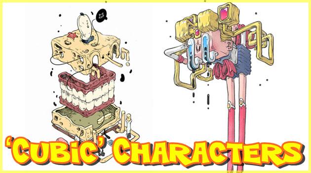 全てのキャラクターをキュービックスタイルに描いたイラスト集!