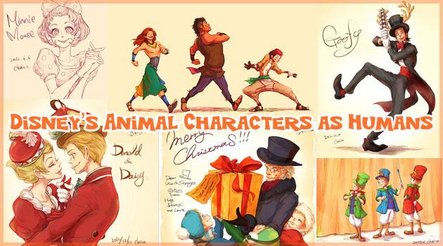 アニマル系ディズニーキャラクターを擬人化させた心温まる作品集