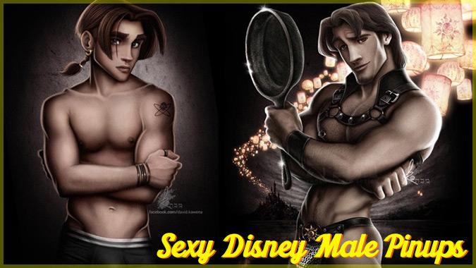 もしもディズニープリンスたちがセクシーな下着モデルだったら?