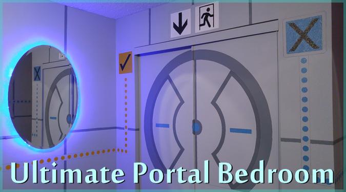 お父さんが10代の息子のために制作した究極のポータルベッドルーム!