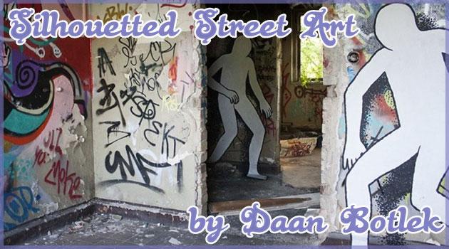 人型シルエットを主役にしたユニークなストリートアート