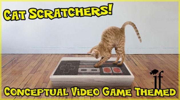 うちのネコがゲームに夢中で困ります!猫用ゲーム型爪とぎ!