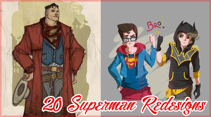 スーパーマンを新たにデザインした20枚の素敵なファンアート作品集
