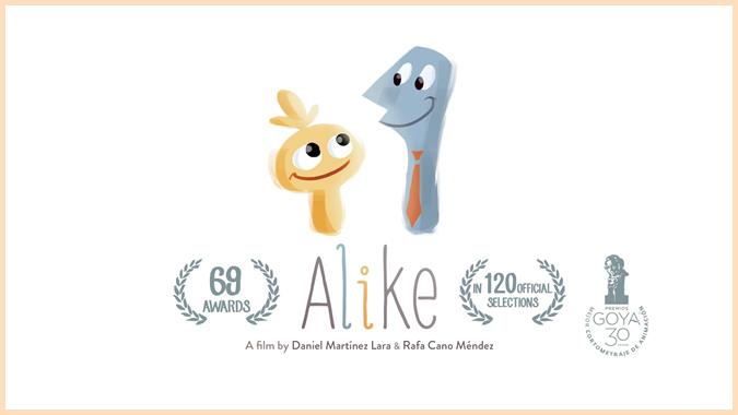 色のない社会の中で色の大切さを知る短編アニメーション「Alike」