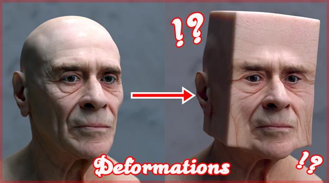 人間の顔を様々な形に変形させていく幾何学CGアート!