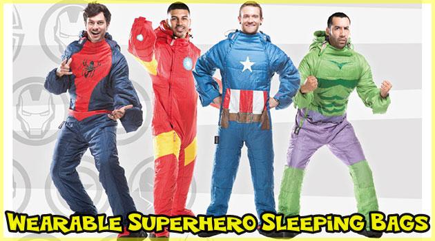 どこでも寝れるスーパーヒーローのウェアラブル寝袋!