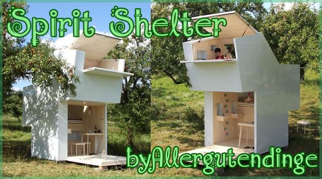 自然の中で生活することができる安らぎの一人用ハウス