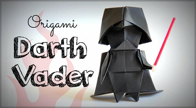 折り紙アーティストにる可愛らしいダースベイダーの折り方!