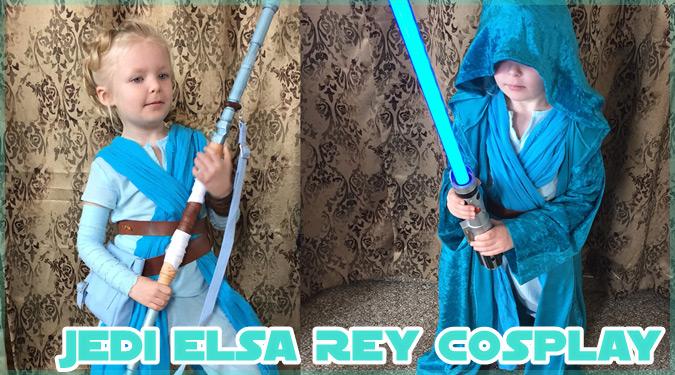 小さな女の子によるジェダイとエルサのマッシュアップ・コスプレ!