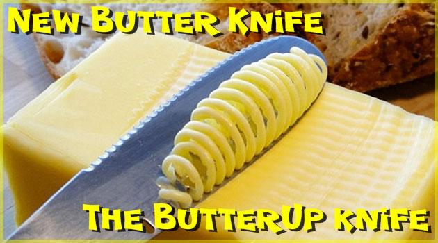 バターを上手く塗ることができる新バターナイフが登場