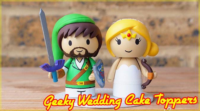 ギークの結婚式に必須アイテムのウェディングケーキトッパー!