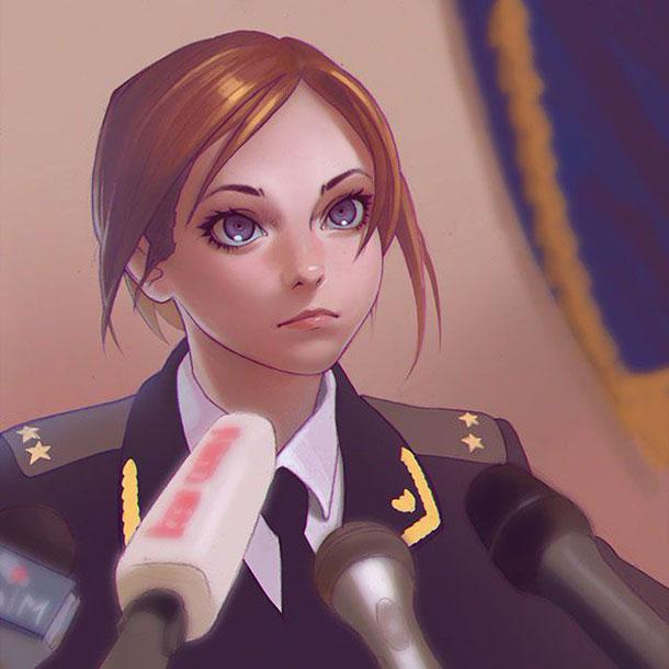 ロシア人が描いた魅力的な女性キャラクターのイラスト作品集 パラリウム