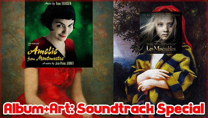 映画のサウンドトラックアルバムのジャケットを古典絵画と融合した作品集