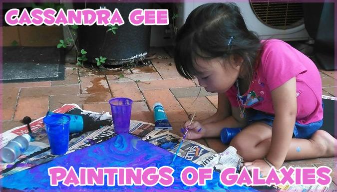 3歳の女の子による独特な銀河の世界を描いた才能溢れるアート作品
