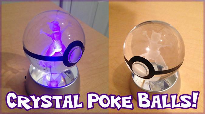 LEDで光るポケモンの3Dクリスタルボールが登場!