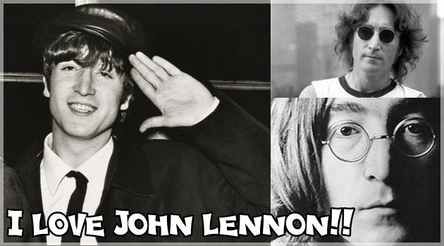 画像を左右に振ると浮かび上がるジョンレノンの画像