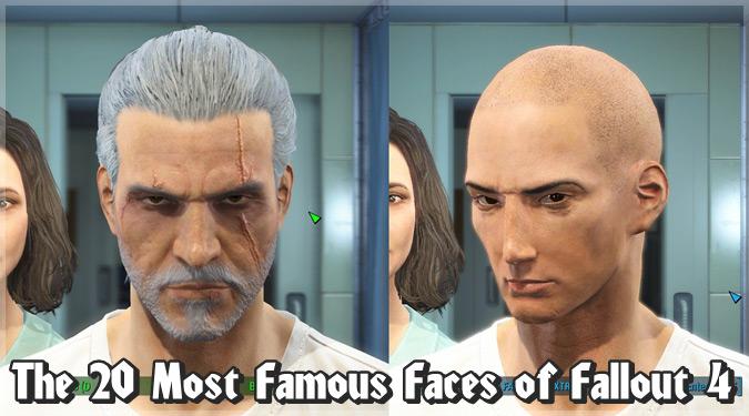 Fallout4のキャラメイクで再現された20人の人気キャラクターたち!
