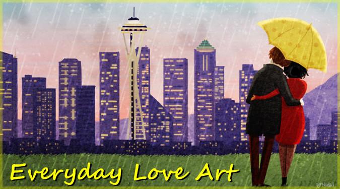 日常の身近な愛を描いたほのぼのと心温まるイラスト作品