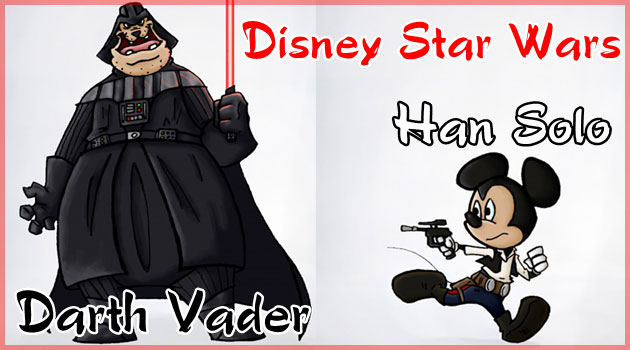 ディズニーとスターウォーズのマッシュアップ作品!