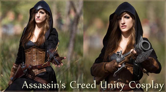 Assassin's Creed Unityのコスプレする海外のギークガール!