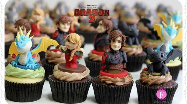 食べるには勿体無い!ヒックとドラゴン2のリアルなカップケーキ