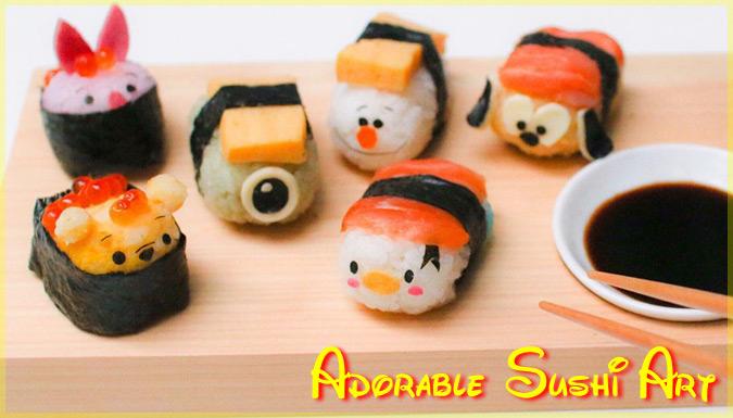 人気キャラクターをモチーフにした可愛いお寿司のキャラ弁シリーズ