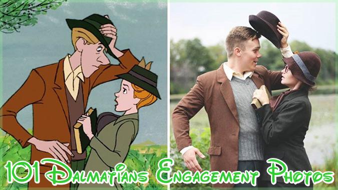 101匹わんちゃんの愛らしいシーンを再現した幸せいっぱいの婚約写真集