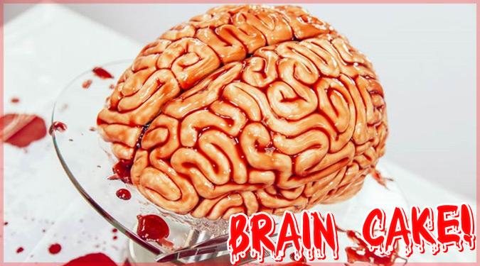ハロウィンのためのビックリ仰天な脳みそケーキ!?