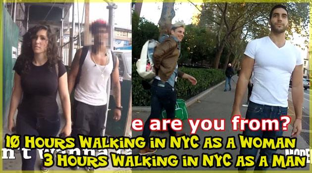 ニューヨークを女性と男性が一人で歩いてみた結果!