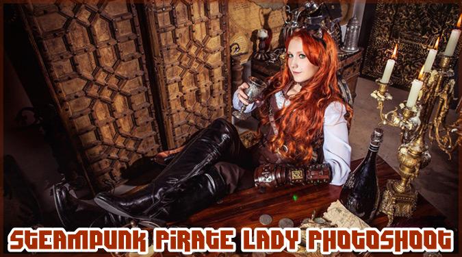 スチームパンクスタイルのクールでキュートな女海賊のコスプレ!