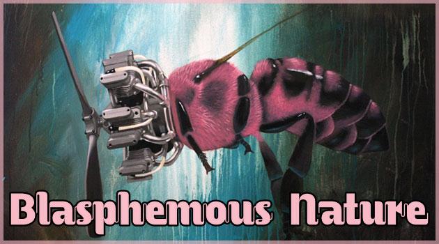 プロペラやエンジンと融合した動物たちのユニークな絵画作品