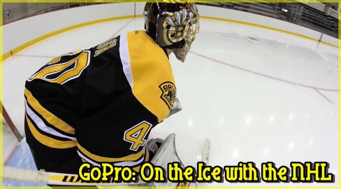 NHLのアイスホッケー選手にGoProを取り付けた大迫力の映像!