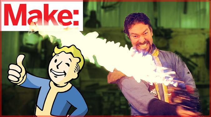 Fallout4に登場する炎の剣「シシケバブ」を実際に作った外国人!