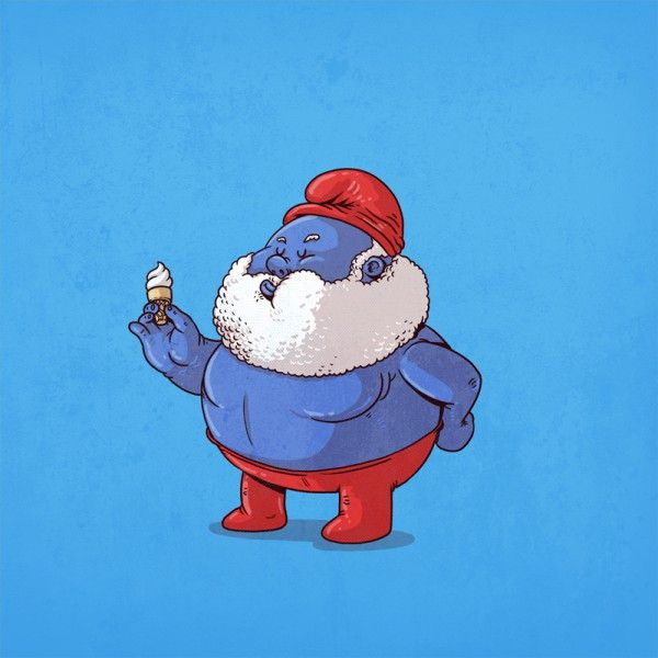 The-Famous-Chunkies-Alex-Solis-Papa-Smurf-600x600