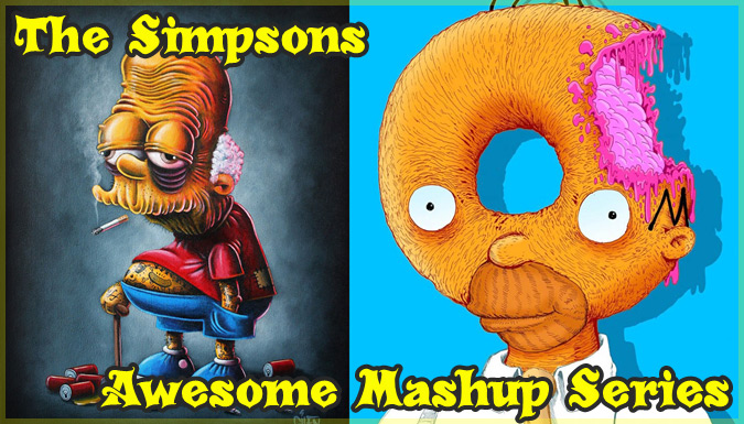 シンプソンズとポップカルチャーをミックスしたユニークな作品集