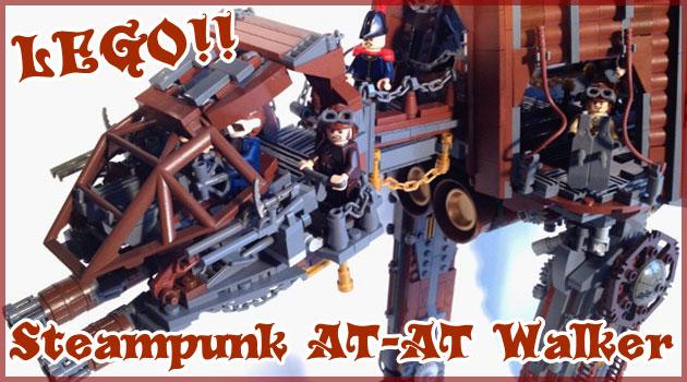 スター・ウォーズのスチームパンクAT-ATを再現したレゴ作品