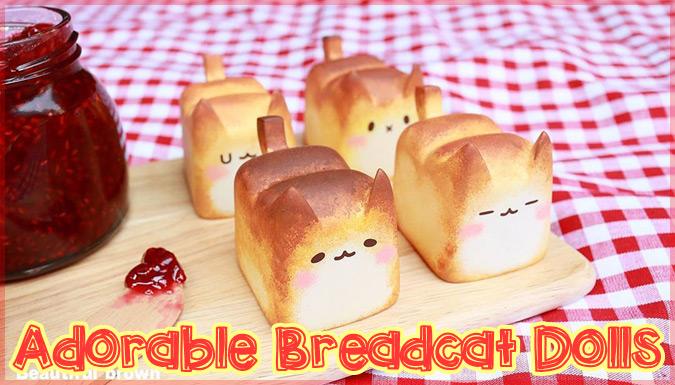 美味しそうなパンと愛らしいネコを組み合わせたパンネコの玩具作品!
