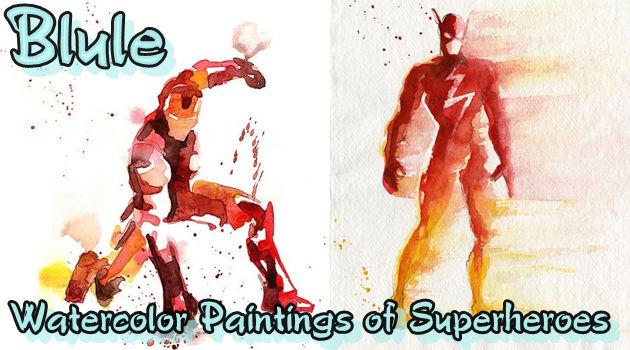 水彩で描いたアメコミヒーロー!気持ちが晴れる清々しさ!