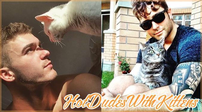 キュートな子猫と戯れるホットな男性たちを撮影した魅力的な写真集!