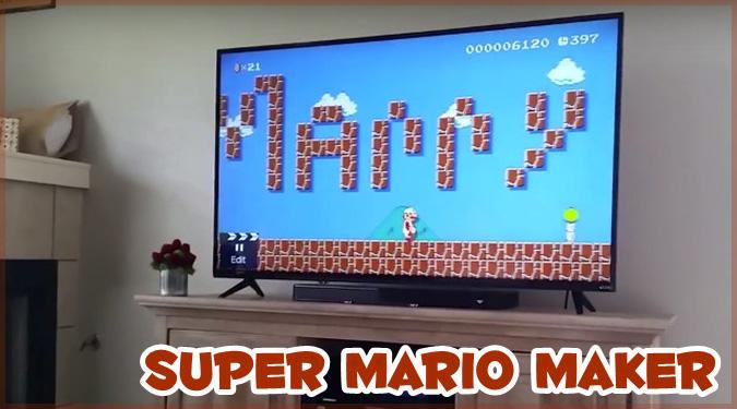スーパーマリオメーカーで恋人にプロポーズをしたゲーマーさん!