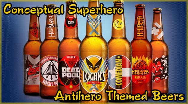 アンチヒーローをモチーフにしたビールブランドのデザイン集