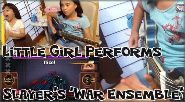 10歳の少女がロックスミスでSlayerのWarEnsembleを演奏!